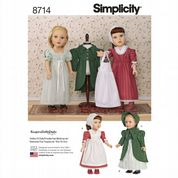 "8714 Simplicity Pattern: 18"" Dolls Clothes"